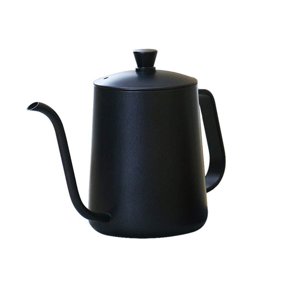Acquisto cz-xing acciaio pour cone dripper Coffee Filter Hand gocciolamento caffettiera con coperchio bollitore Nero Prezzi offerta