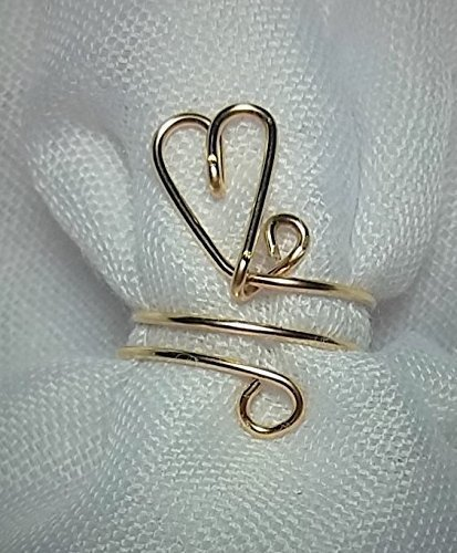 Toe Ring Heart – 14 Kt. Gold Filled Adjustable