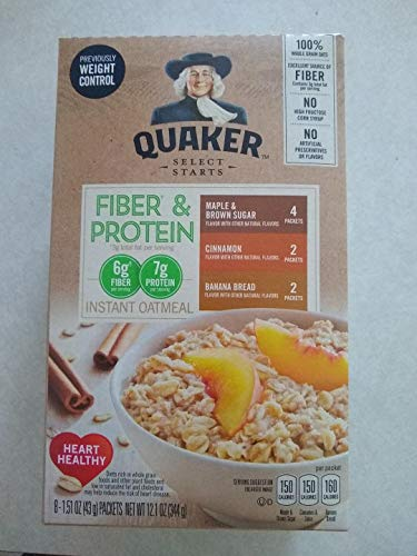 Quaker Instant Oatmeal Weight Control, Variety Pack, Breakfast Cereal, 8 Packets Per Box ,12.6 Ounce (Pack of -
