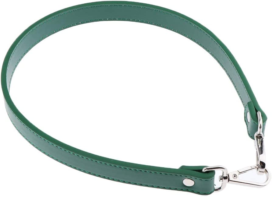 dailymall Fashion Leather Replacement Purse Straps Handbag Bag Belt with Silver Tone 64cm Green