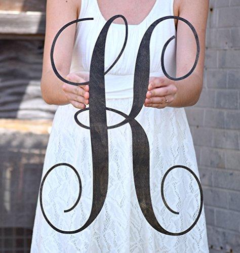Charmant 1/2u0026quot; Thick Wood Letter Door Hanger   Front Door Hanger   Wooden  Monogram