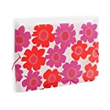 Comix Summer Flowers Pattern 13 Pockets Expanding File,Perfect for Office/Home/School/Store, A4 & Letter Size, Red (A1361)