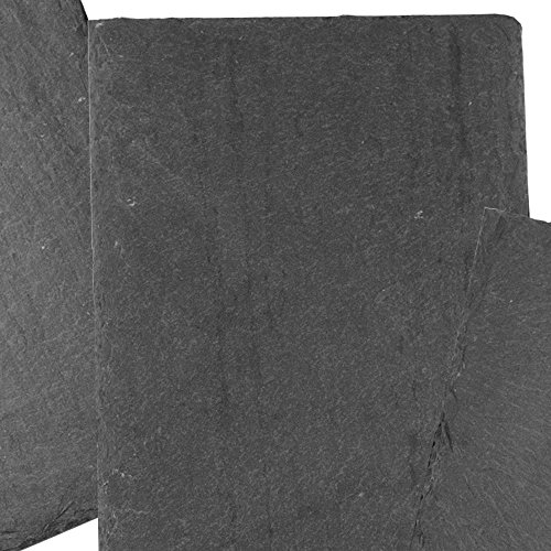 Cohas Slate Food and Cheese Platter Restaurant Pack includes 12 Medium 8 by 12 Inch Boards, Undrilled Gray Slate by Cohas (Image #1)