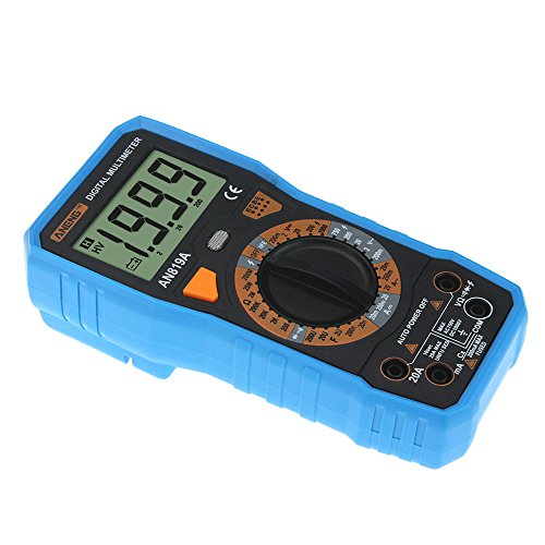 Qisuw Digital Multimeter -AN819A Digital Multimeter 1999 Counts Backlight LCD AC DC Ammeter + 16in1 Cable (Blue) - - Amazon.com