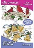 Anita Goodesign Embroidery Designs CD CHRISTMAS RIBBONS