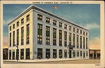 chamber of commerce building scranton pennsylvania original vintage postcard. Black Bedroom Furniture Sets. Home Design Ideas
