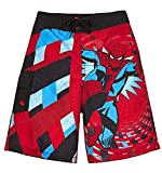 Marvel Comics Big Boys' swim trunks in Red (Large 10-12)