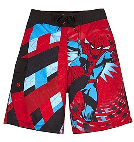 Marvel Comics Big Boys' swim trunks in Red (Large 10-12) by Marvel