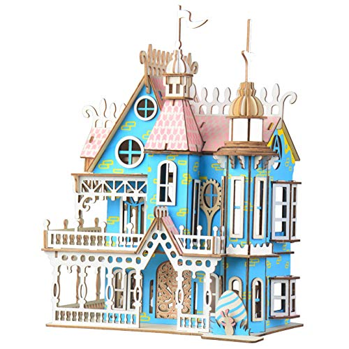 DIETSON 3D Wooden Puzzle Model Kits Assembly Craft Toy Brain Teaser Games Building Kits Gifts for Kids Women Men (Dreamlike Villa)