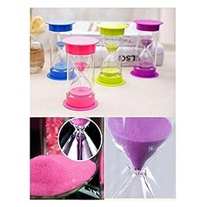 Toirxarn Reloj de arena, doble protección, asistente de gestión del tiempo, regalo creativo, decoración de la oficina de la sala de estar - 60 minutos Verde 4