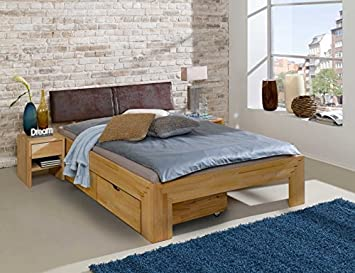 Cama futón (Jasmina L acolchado Cabecero Cama cajones Noche Consola L 180 x 200 cm L haya maciza: Amazon.es: Hogar