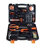 Homyl 45 Pieces Multi-functional Precision Tools General Tools Set Homeowner's Kit Toolbox Household Hand Plastic Storage Case Home Tool Kits