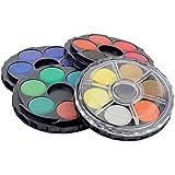 361803 - Aquarellset mit 24 Farben, 4 Etagen - 24 Näpfe, sehr gute Qualität! Wasserfarben vom Feinsten. Aquarellfarben mit sehr hoher Pigmentierung!