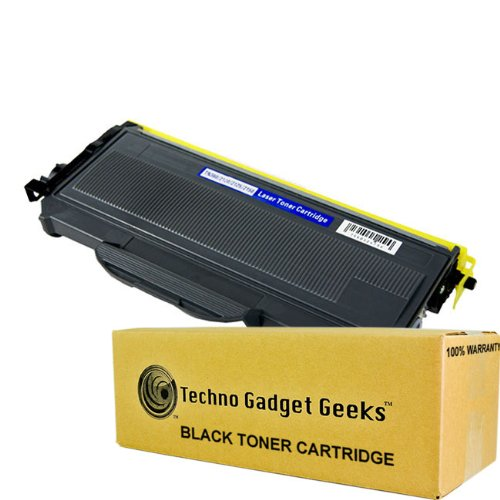 Techno Gadget Geeks High Yield TN-360 TN-330 Toner Cartridge for Brother Printer MFC-7440N MFC-7840W MFC-7320 HL-2170W HL-2150N HL-2140 DCP-7030 Black 2600 pages by Techno Gadget Geeks