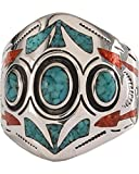 Silver Legends Unisex 3 Circle Southwestern Ring Turquoise 15