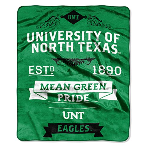 - The Northwest Company NCAA North Texas Mean Green Label Plush Raschel Throw, 50