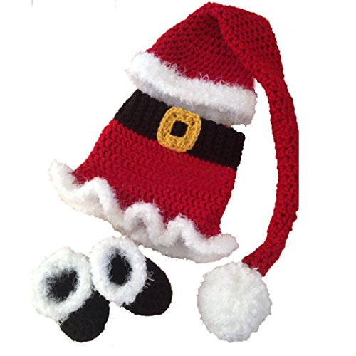 [Voberry® Baby Photo Props,Infant Newborn Cute Santa Claus Christmas Outfits] (Cute Halloween Costumes For Newborn Babies)