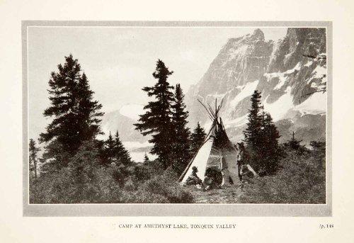 Valley Jasper (1926 Print Camp Amethyst Lake Tonquin Valley Jasper National Park Alberta Canada - Original Halftone Print)
