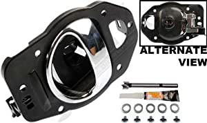 APDTY 91470 Interior Door Handle Replacement Kit Fits Left Driver-Side Front Or Rear For 2006-2010 Chevy HHR Chrome (Fix For GM Door Panel 19299614, 25812196)