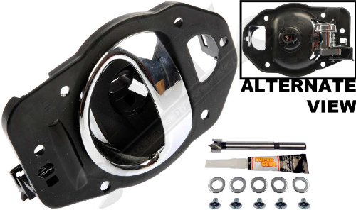 APDTY 91470 Interior Door Handle Replacement Kit Fits Left Driver-Side Front Or Rear For 2006-2011 Chevy HHR Chrome (Fix For GM Door Panel 19299614, 25812196) (Chevy 2007 Door Handle compare prices)