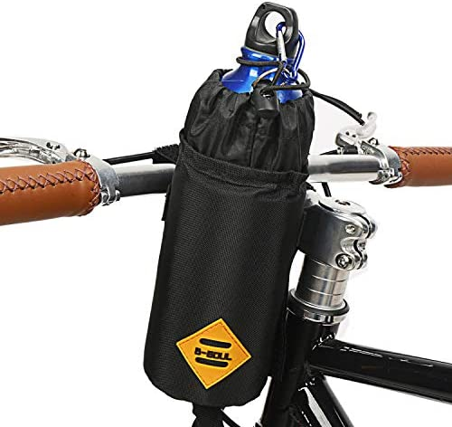 Suruid Bike Water Bottle Holder Insulated Bike Carrier Bag, Handlebar Attachment Cup Holder Bicycle Water Bottle Drink Holder for Drinks, Food, Snack Storage