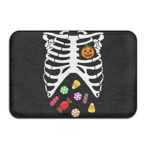 Heart of Pumpkin Halloween Candy1-1 Indoor Outdoor Entrance Rug Non Slip Bath Rugs Doormat Rugs for Home -