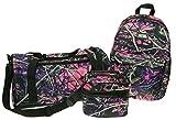 Muddy Girl Pink Backpack Duffel Bag Cosmetic Case 3 Piece Set