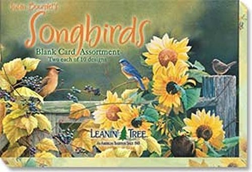 - Susan Bourdet's Songbirds - Blank Card Set by Leanin' Tree (AST90634) - 20 cards with full-color interiors and 22 designed envelopes