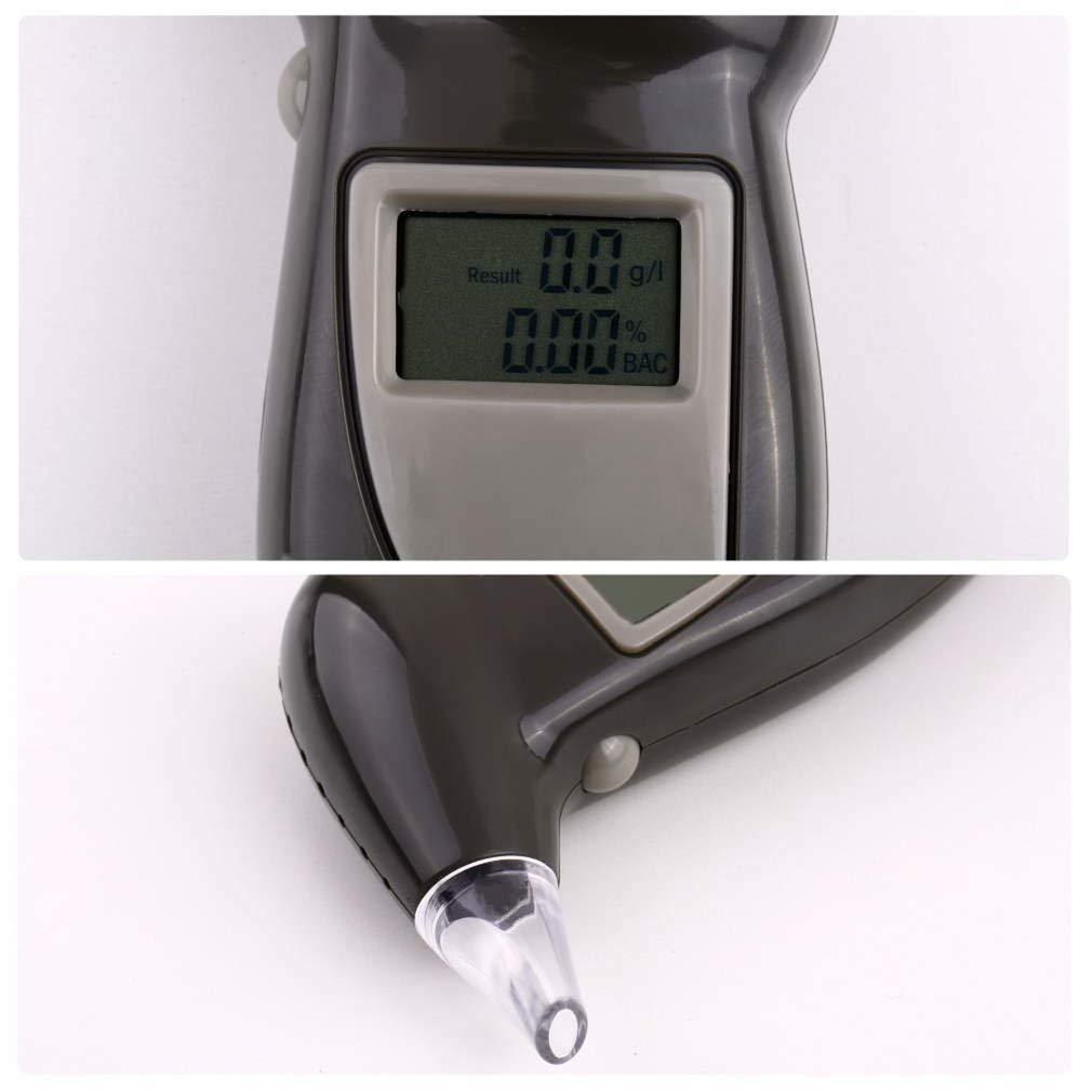 Digital Alcohol Breath Tester Breathalyzer Analyzer Detector Test Keychain with Backlight