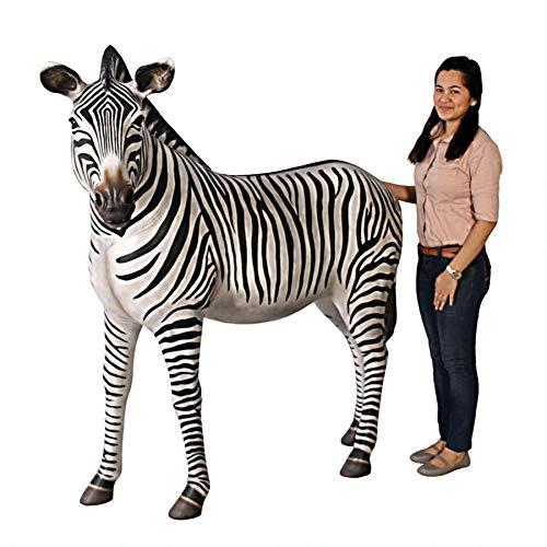 Design Toscano Grand Scale African Zebra Statue