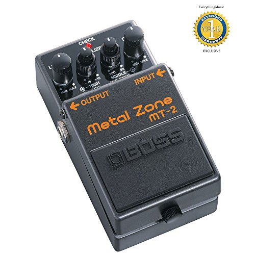 Boss MT-2 Metal Zone Effects Pedal with 1 Year Free Extended (Boss Metal)