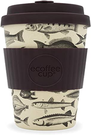 600 700ml Customized Reusable Bamboo Fiber Coffee Cup with Lid