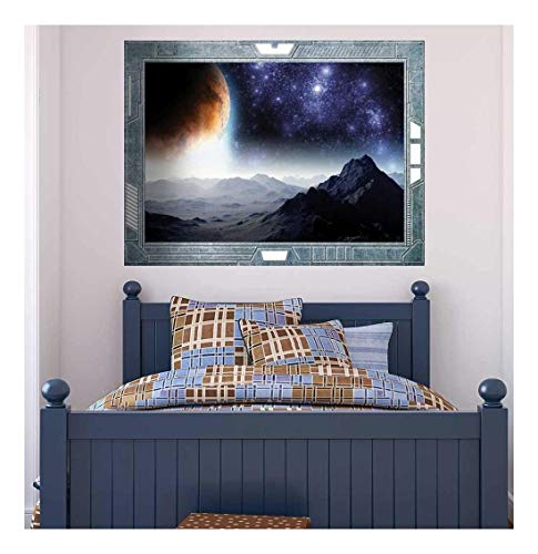Science Fiction ViewPort Decal A Gloomy and Ominous View of the Planets Wall Mural