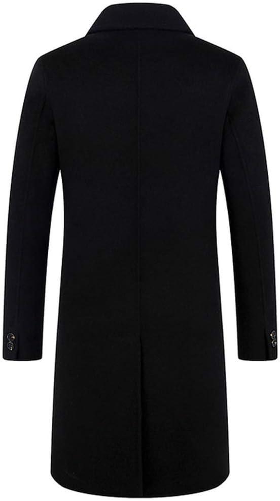 WMOFC Cappotto di Lana Slim Fit Inverno Caldo Affari Giacca Lunga Trench Uomo Cashmere Outerwear 02 jf6bk