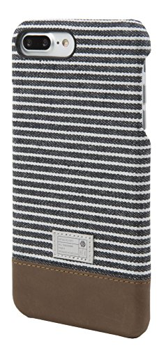 Hex  Cell Phone Case for iPhone 7 Plus - Black/Grey Stripe (Accents Sw Apple)