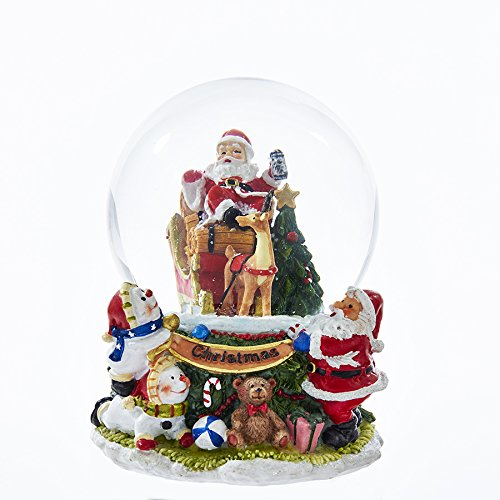 Kurt Adler J8400 100mm Santa Claus Musical Waterball