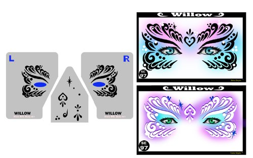 ShowOffs Body Art Face Painting Stencil - StencilEyes Willow -