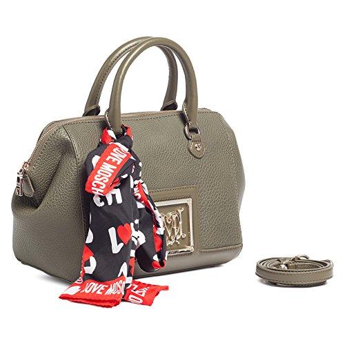 Moschino Jc4024 0850 Khaki Green Satchel/shoulder Bag