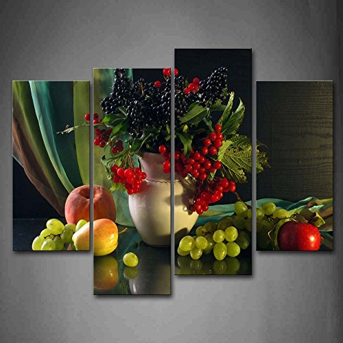 First Wall Art - Various Fruit And Bottle Wall Art Painting Pictures