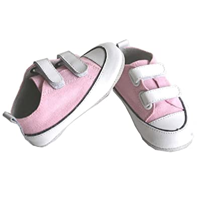 Jinwood Leather Baby Soft Sole Shoes Boy Girl Infant Child Kid Toddler First Walk Gift Canvas Pink Velcro