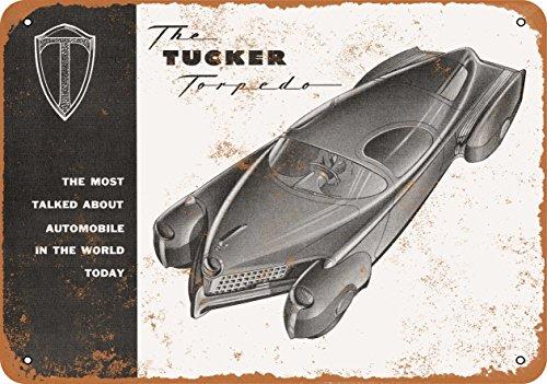 (Wall-Color 9 x 12 Metal Sign - 1948 Tucker Torpedo - Vintage Look)