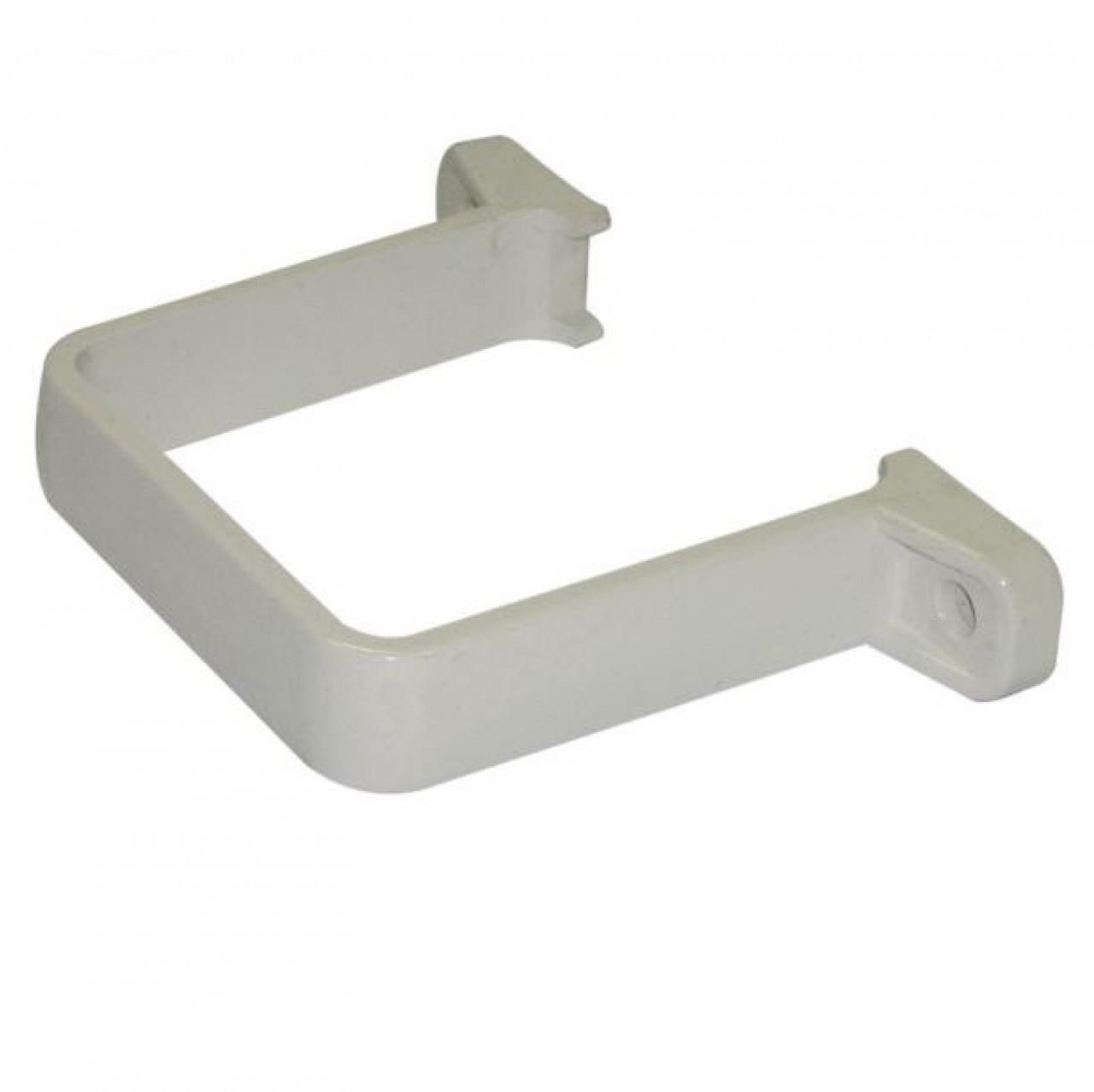 FLOPLAST 65mm Square Flush Down Pipe Clip - White - Bag of 2