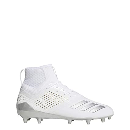 eb7be106cf52 adidas Adizero 5-Star 7.0 Mid Cleat - Men s Lacrosse 6.5 White Silver  Metallic