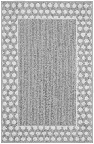 (Garland Rug Polka Dot Frame Area Rug, 30 x 46,)
