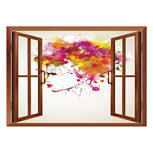 SCOCICI Wall Mural, Removable Sticker, Home Décor/Abstract,Watercolor Portrait