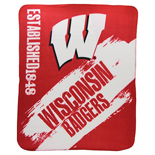 The Northwest Company NCAA Collegiate School Logo Fleece Blanket (Wisconsin Badgers, 50