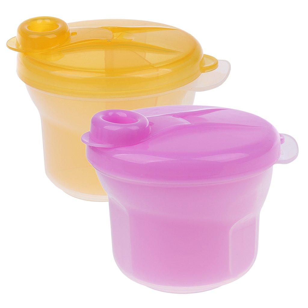 MagiDeal 2 Pezzi Baby Formula Latte Polvere Dispenser Contenitore Di Immagazzinaggio Box per Latte Materno