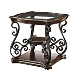 Coaster Home Furnishings End Table with Tempered Glass Top Deep Merlot Review
