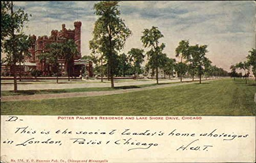 Potter Palmer's Residence and Lake Shore Drive Chicago, Illinois Original Vintage Postcard