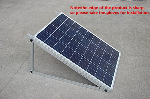 Adjustable Solar Panel Mount Mounting Rack Bracket Set ...